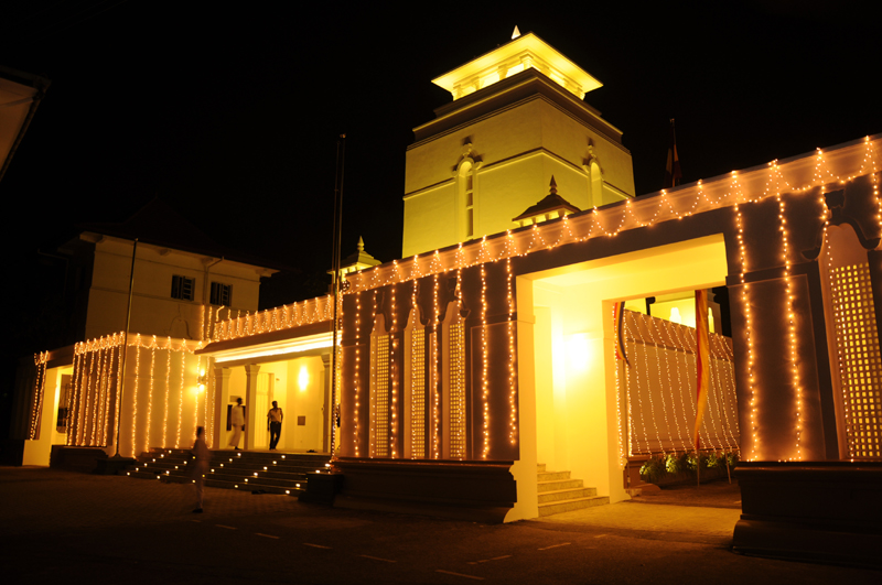 The renovated Vihara Mandiraya